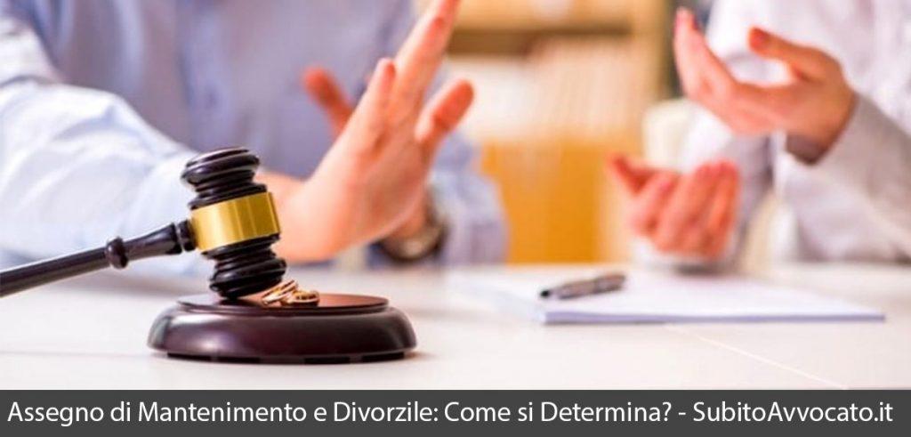 assegno divorzile assegno di mantenimento come determinarli