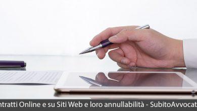 contratti online e su siti web annullabilità clausole vessatorie
