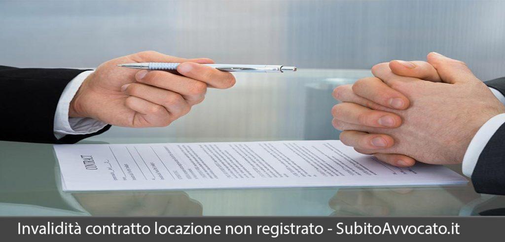invalidità contratto di locazione non registrato