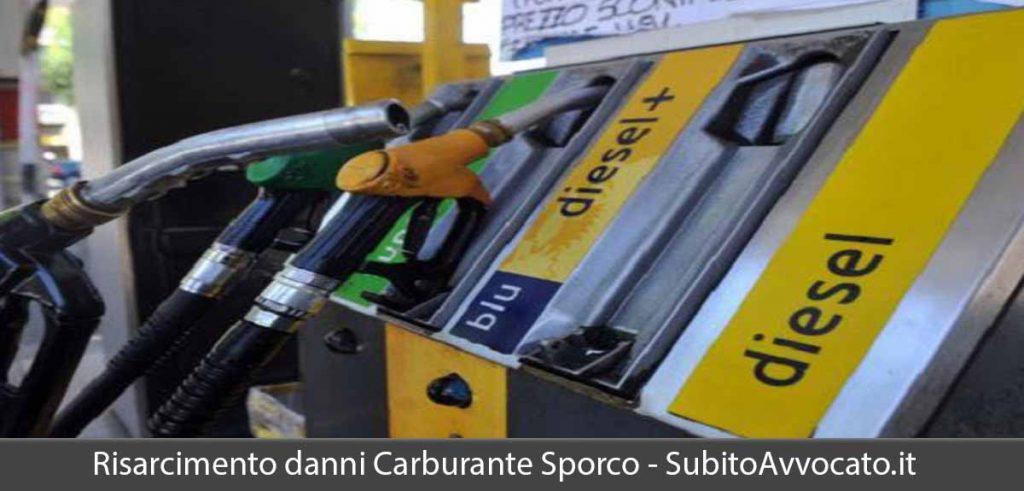 risarcimento danni carburante sporco