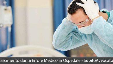 risarcimento danni errore medico ospedale