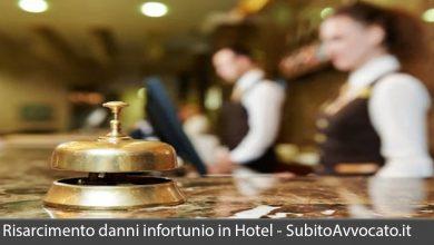 risarcimento danni infortunio in hotel