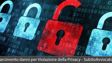 risarcimento danni per violazione della privacy