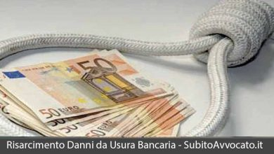 risarcimento danni usura bancaria