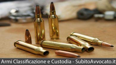 armi classificazione custodia e numero massimo detenibile