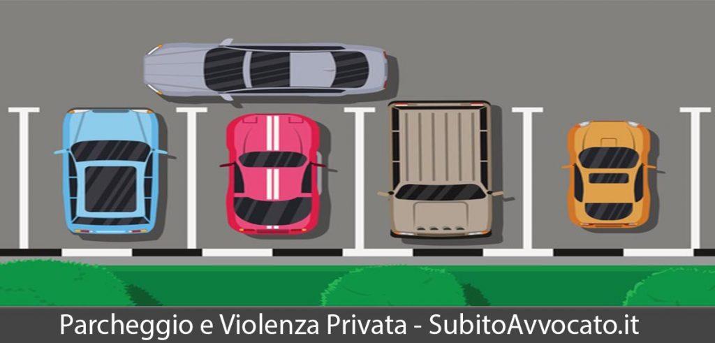 parcheggio violenza privata