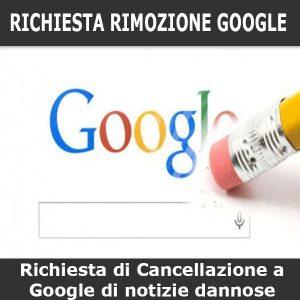 richiesta rimozione google