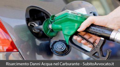 risarcimento danni acqua nel carburante
