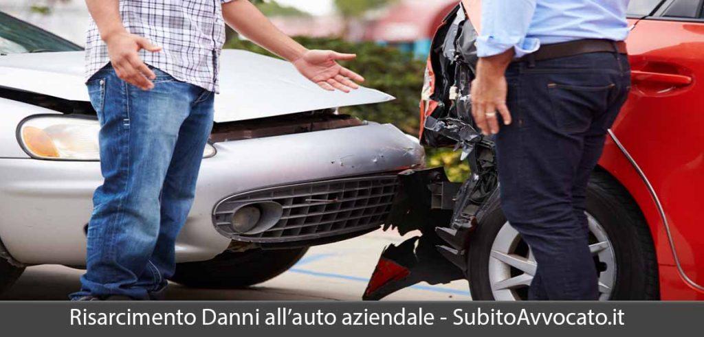 risarcimento danni auto aziendale dipendente