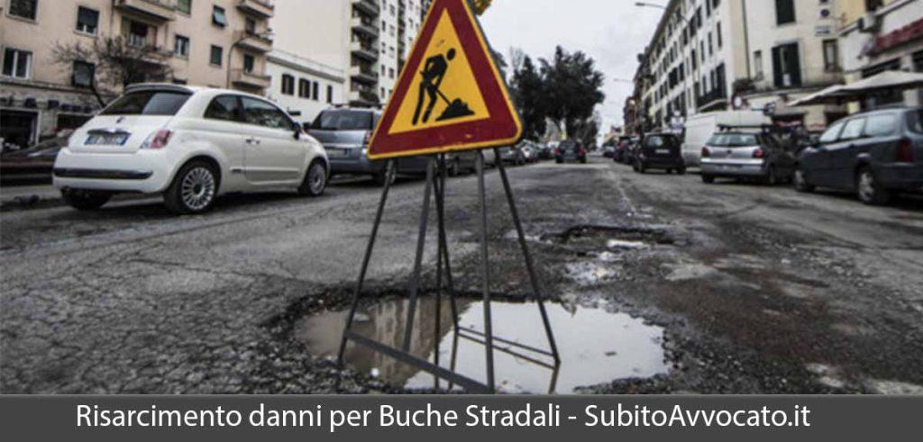 risarcimento danni buche stradali