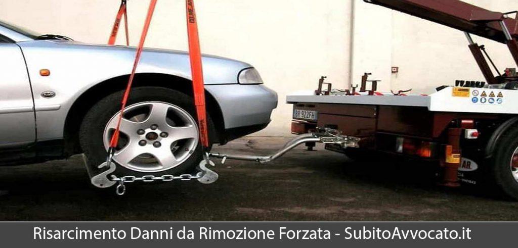 risarcimento danni rimozione forzata veicolo