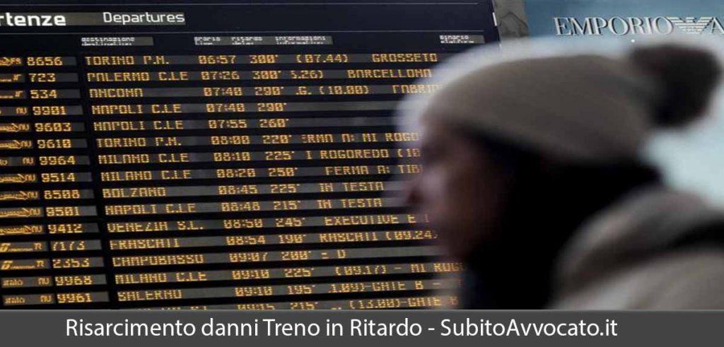 risarcimento danni treno in ritardo