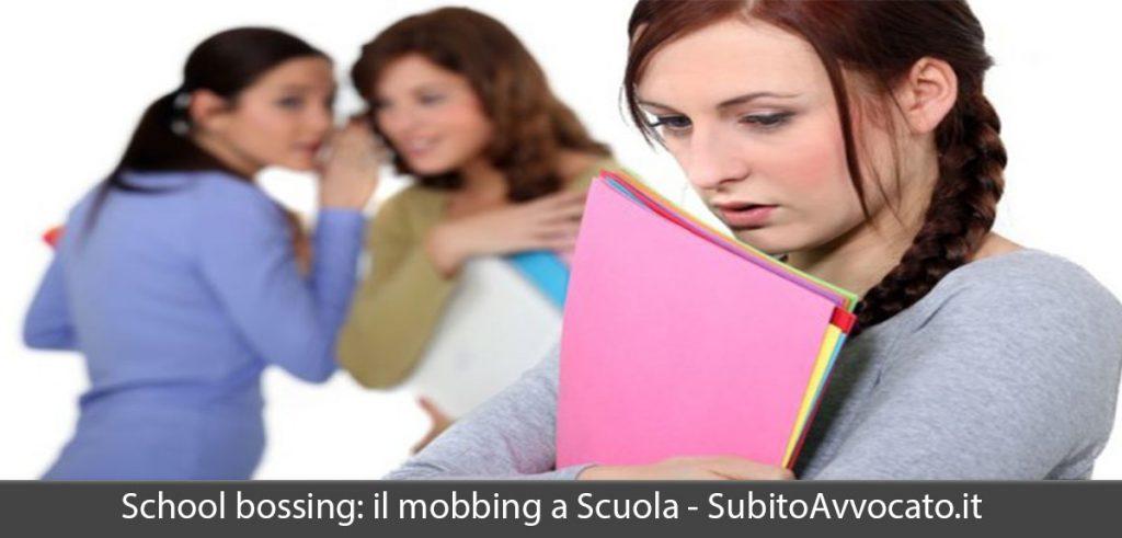 school bossing mobbing a scuola
