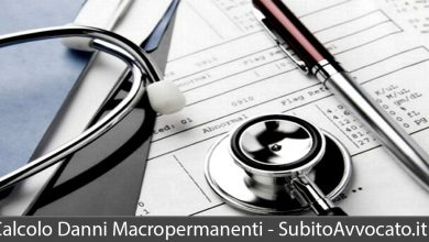 calcolo danni macropermanenti