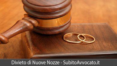 divieto di nuove nozze