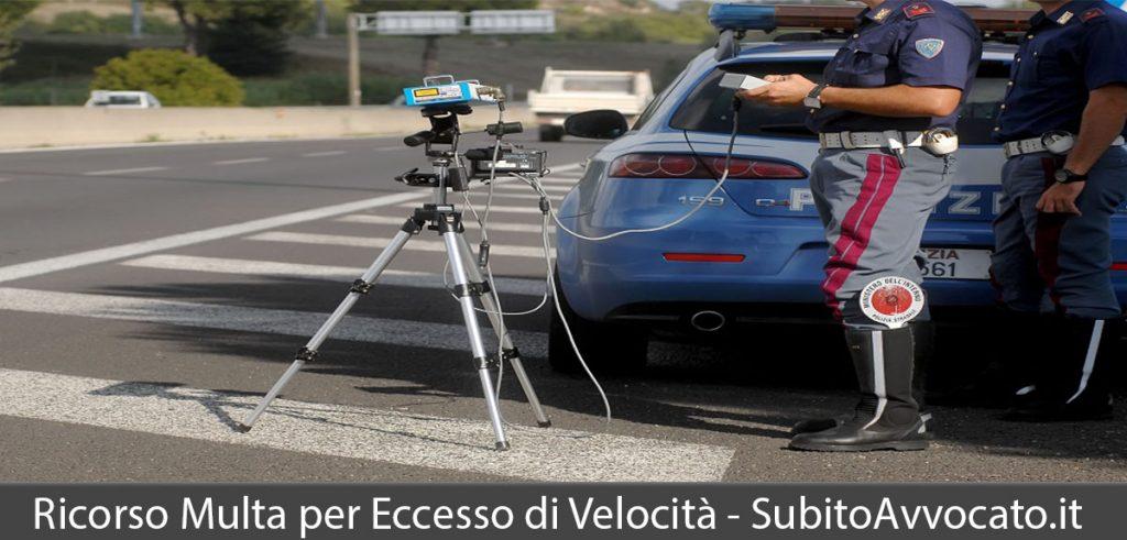 ricorso multa eccesso di velocità autovelox