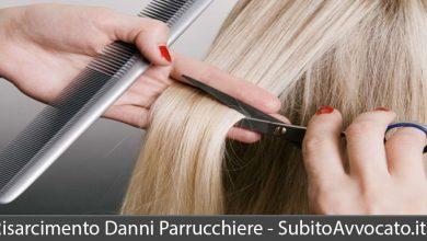 risarcimento danni parrucchiere