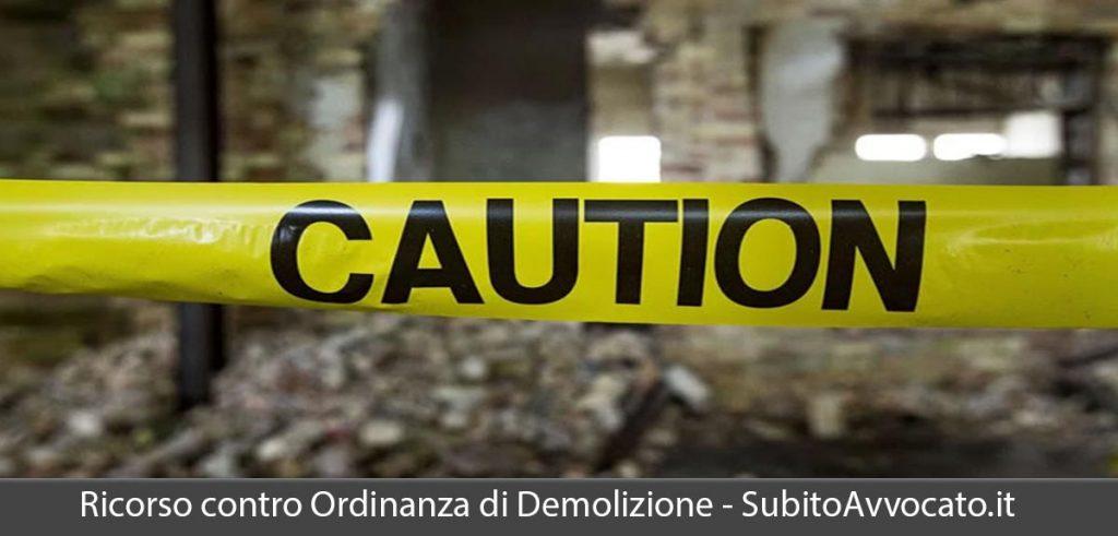 ricorso contro ordinanza di demolizione