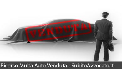 ricorso multa auto venduta