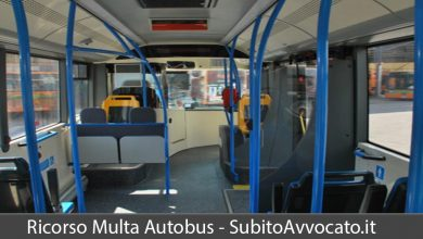 ricorso multa autobus