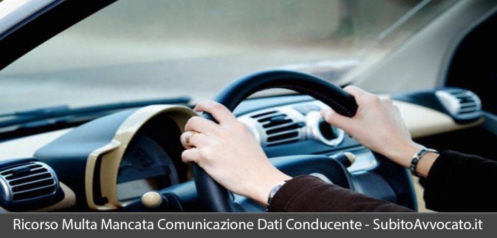 ricorso multa mancata comunicazione dati conducente